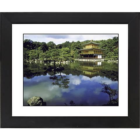 "Mirror Lake Black Frame Giclee 23 1/4"" Wide Wall Art"