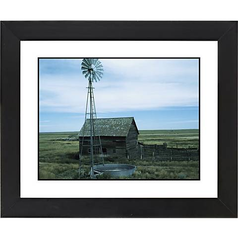 "Montana Windmill Black Frame Giclee 23 1/4"" Wide Wall Art"
