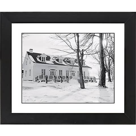 """Snowy Day Black Frame Giclee 23 1/4"""" Wide Wall Art"""