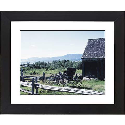 "Fence Line Black Frame Giclee 23 1/4"" Wide Wall Art"