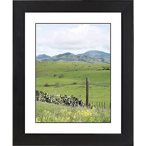 "Green Vistas Black Frame Giclee 23 1/4"" High Wall Art"