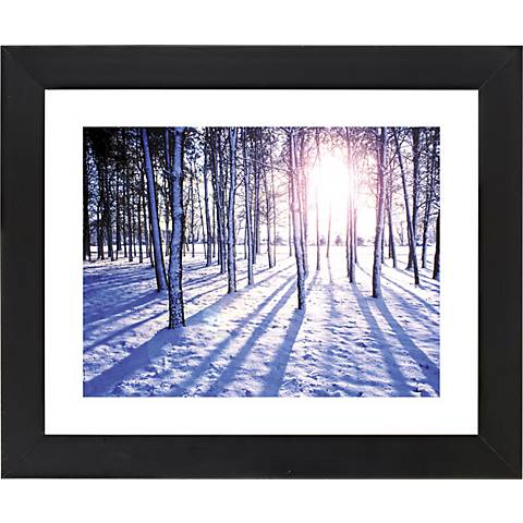 "Snow Field Black Frame Giclee 23 1/4"" Wide Wall Art"