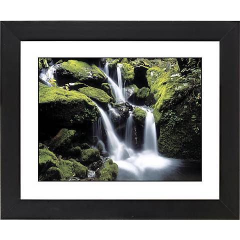 "Falling Water Black Frame Giclee 23 1/4"" Wide Wall Art"