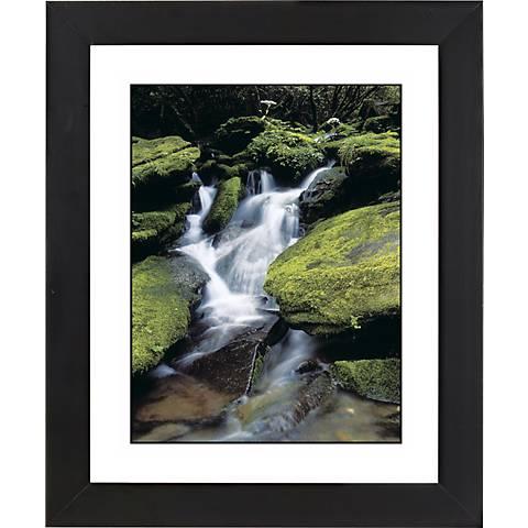 "Waterfall Black Frame Giclee 23 1/4"" High Wall Art"