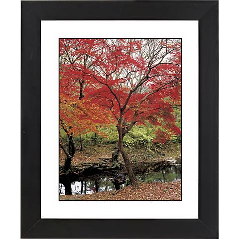 "Red Autumn Black Frame Giclee 23 1/4"" High Wall Art"