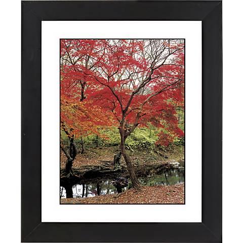 "Red Autumn Black Frame Giclee 23 1/4"" High Wall Art"