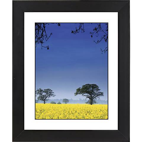 "Field Of Yellow Black Frame Giclee 23 1/4"" High Wall Art"