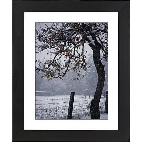 "Foggy Day Black Frame Giclee 23 1/4"" High Wall Art"