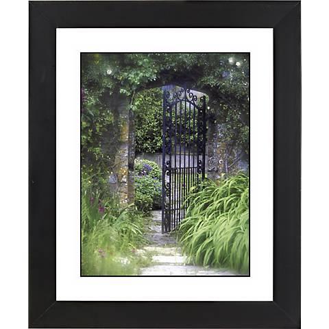 "Open Gate Black Frame Giclee 23 1/4"" High Wall Art"