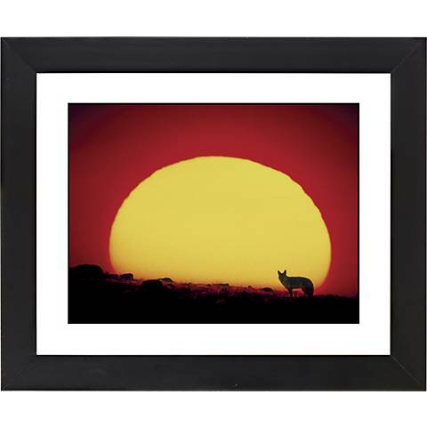 "Los Lobos Sunset Black Frame Giclee 23 1/4"" Wide Wall Art"