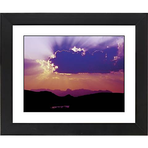 "Canyon Sunrise Black Frame Giclee 23 1/4"" Wide Wall Art"