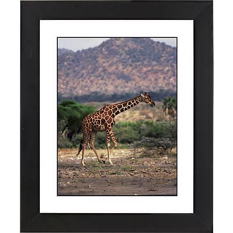 "Serengeti Giraffe Run Black Frame 23 1/4"" High Wall Art"