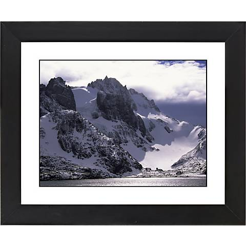 """Icy Mountain View Black Frame Giclee 23 1/4"""" Wide Wall Art"""