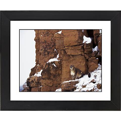 "Mountain Perch Black Frame Giclee 23 1/4"" Wide Wall Art"