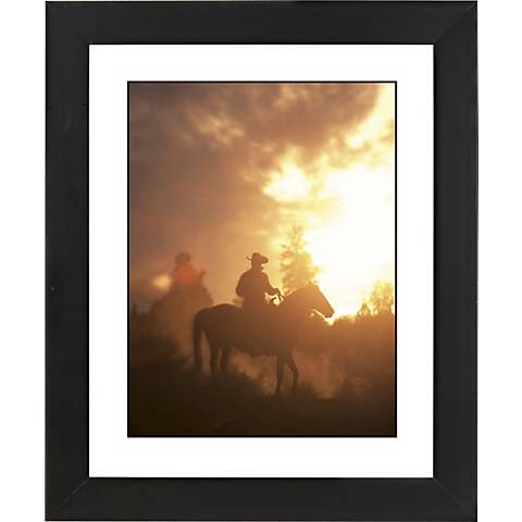 "Sunset Roundup Black Frame Giclee 23 1/4"" High Wall Art"