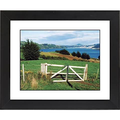 """Pasture Fence Black Frame Giclee 23 1/4"""" Wide Wall Art"""