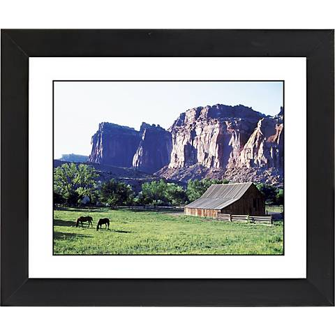 "Mesa Pasture Black Frame Giclee 23 1/4"" Wide Wall Art"