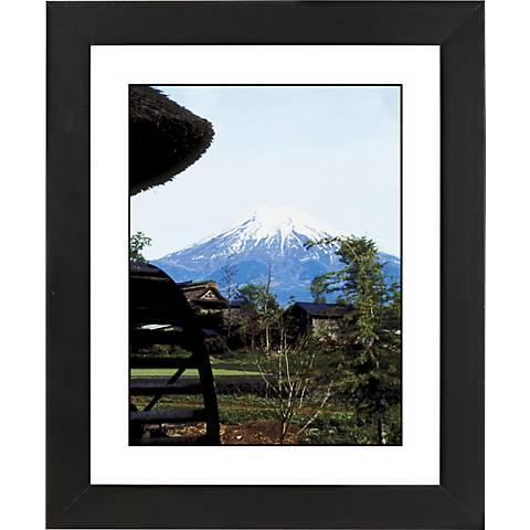 "Mountain Peak Black Frame Giclee 23 1/4"" High Wall Art"