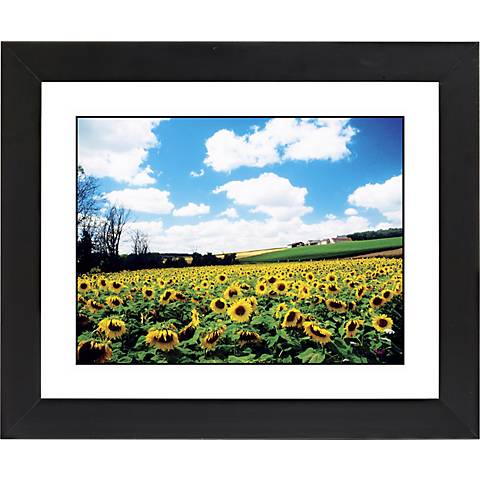 "Sunflower Field Black Frame Giclee 23 1/4"" Wide Wall Art"