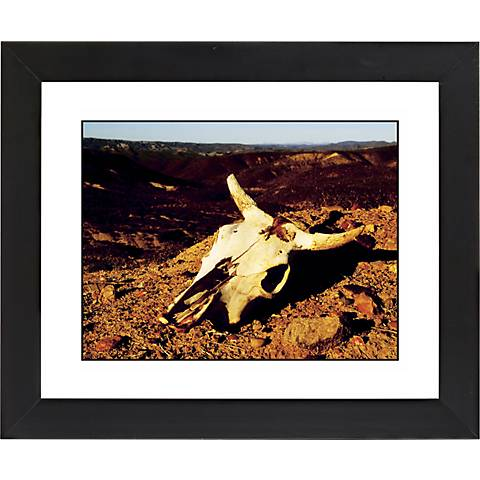 "Desert Skull Black Frame Giclee 23 1/4"" Wide Wall Art"