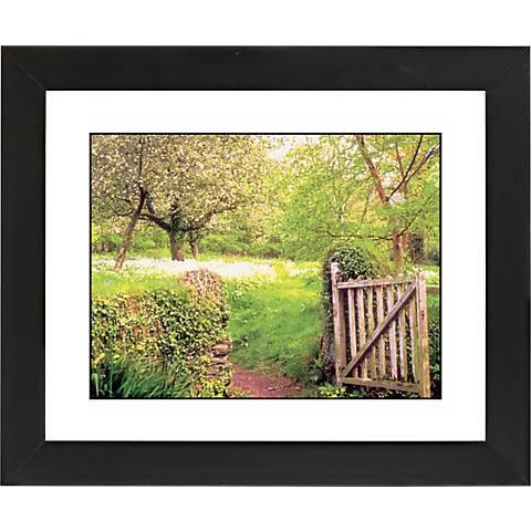 """Garden Gate Black Frame Giclee 23 1/4"""" Wide Wall Art"""
