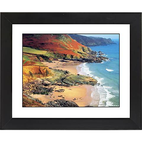 "Beach Hideaway Black Frame Giclee 23 1/4"" Wide Wall Art"