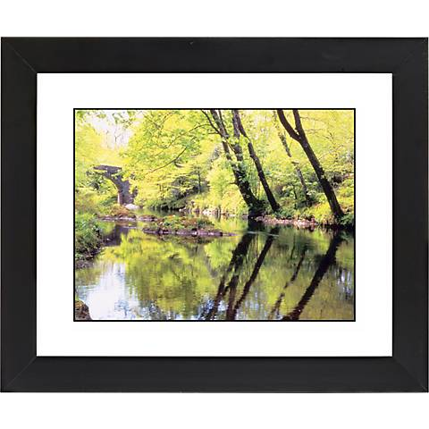 """Tranquil River Black Frame Giclee 23 1/4"""" Wide Wall Art"""