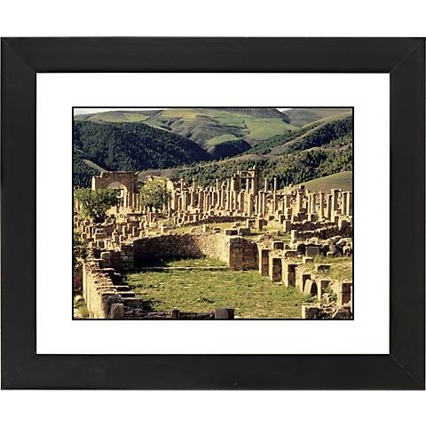 "Abby Ruins Black Frame Giclee 23 1/4"" Wide Wall Art"