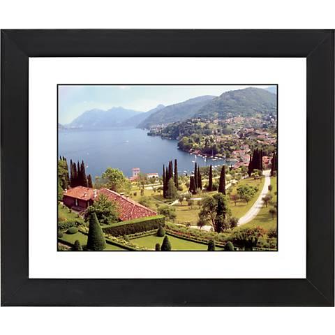 """Italian Lake Black Frame Giclee 23 1/4"""" Wide Wall Art"""