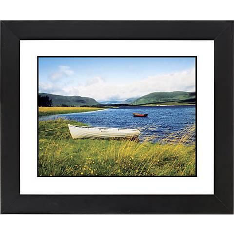 """Windswept Lake Black Frame Giclee 23 1/4"""" Wide Wall Art"""