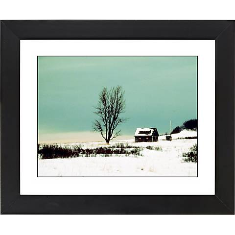 """After The Snow Black Frame Giclee 23 1/4"""" Wide Wall Art"""
