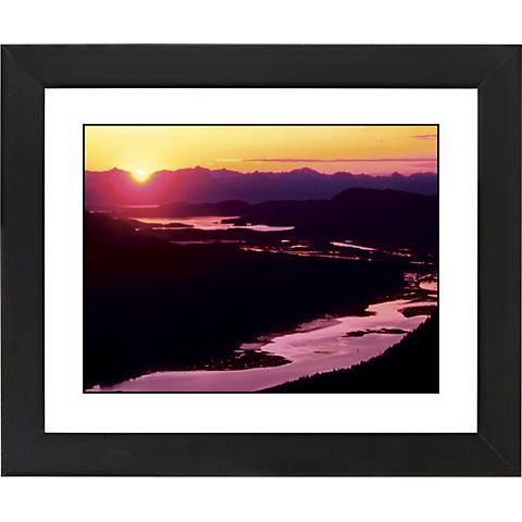 "River Sunset Black Frame Giclee 23 1/4"" Wide Wall Art"
