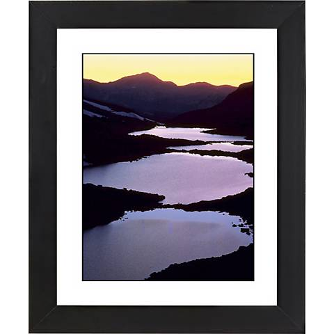 "Mountain Lakes Black Frame Giclee 23 1/4"" High Wall Art"