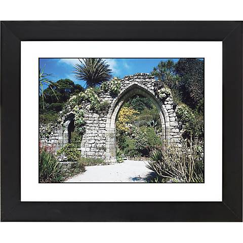 "Gothic Arch Ruins Black Frame Giclee 23 1/4"" Wide Wall Art"