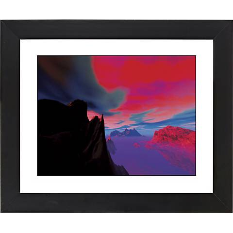 "Magic Sunset Black Frame Giclee 23 1/4"" Wide Wall Art"