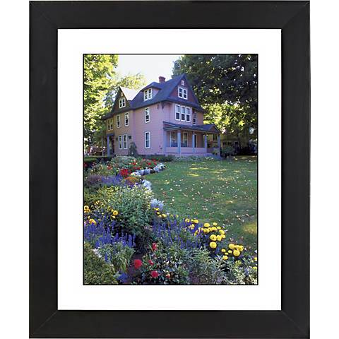 "Colorful Garden Black Frame Giclee 23 1/4"" High Wall Art"