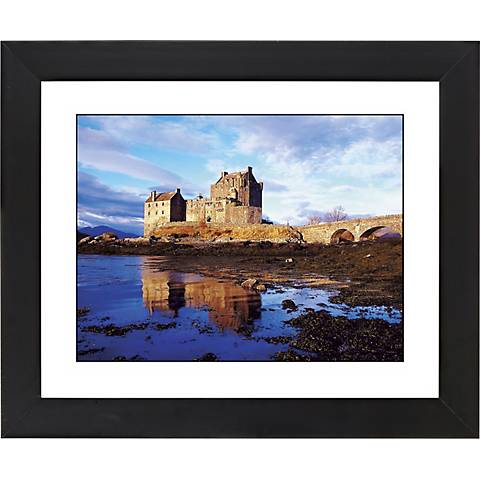 "Seaside Castle Black Frame Giclee 23 1/4"" Wide Wall Art"
