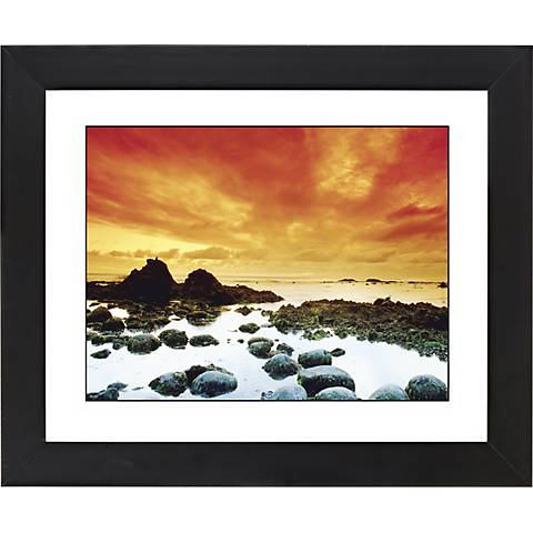 "Sunset Tide Pool Black Frame Giclee 23 1/4"" Wide Wall Art"