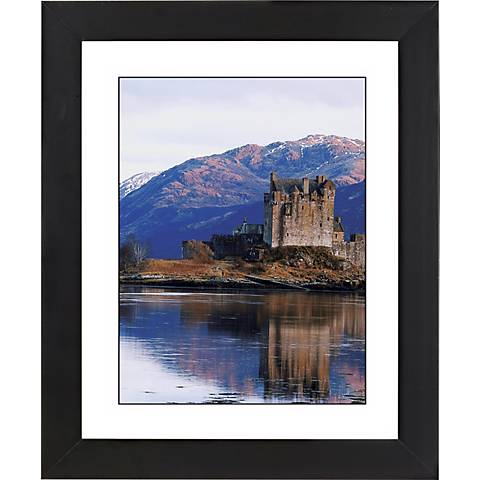 """Castle Reflections Black Frame Giclee 23 1/4"""" High Wall Art"""
