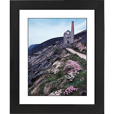 """Cliffside Ruins Black Frame Giclee 23 1/4"""" High Wall Art"""