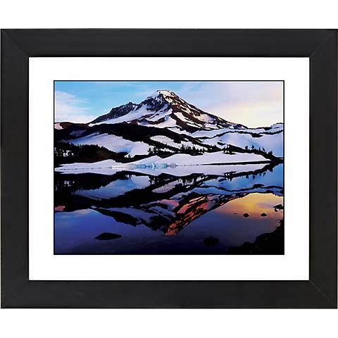 "Icelandic Peak Black Frame Giclee 23 1/4"" Wide Wall Art"