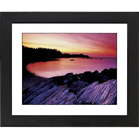 "Red Lake Sunset Black Frame Giclee 23 1/4"" Wide Wall Art"