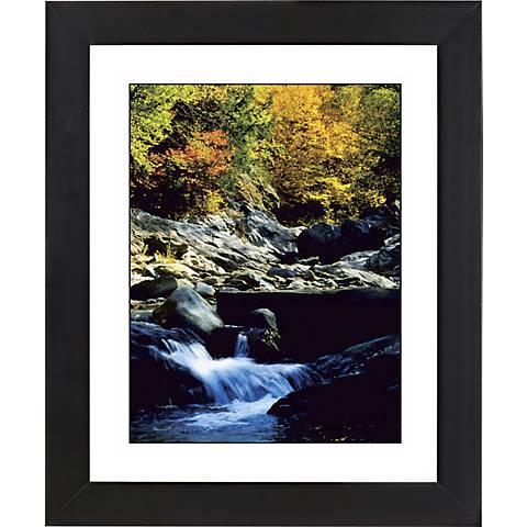 "Crystal Mountain Stream Black Frame 23 1/4"" High Wall Art"