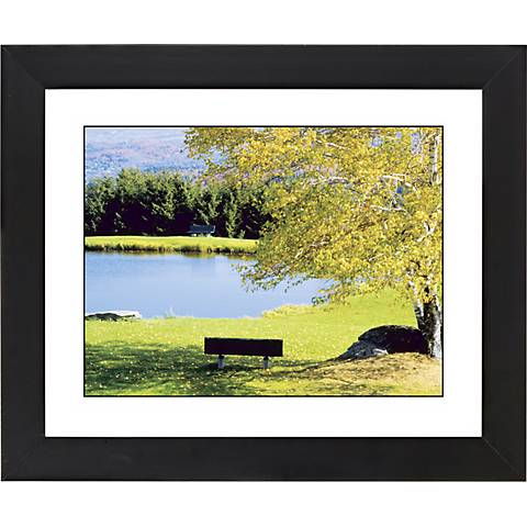 "Lakeside Bench Black Frame Giclee 23 1/4"" Wide Wall Art"