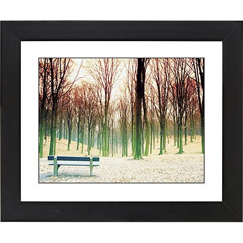 "Bare Trees Black Frame Giclee 23 1/4"" Wide Wall Art"