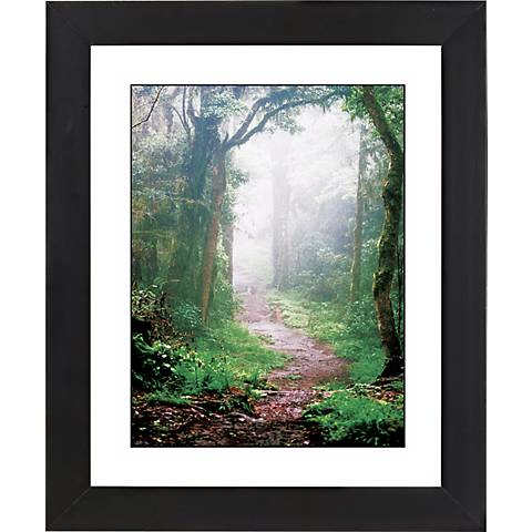 "Misty Forest Black Frame Giclee 23 1/4"" High Wall Art"