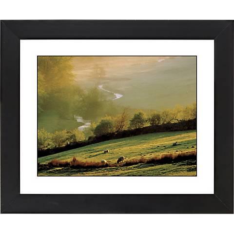 "Misty Sunrise Black Frame Giclee 23 1/4"" Wide Wall Art"