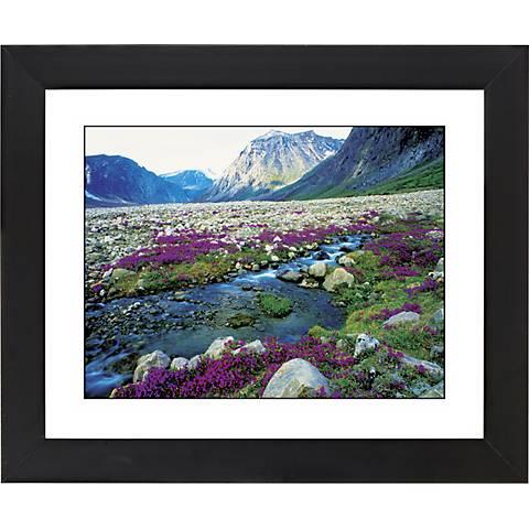 "Mountain Running Stream Black Frame 23 1/4"" Wide Wall Art"