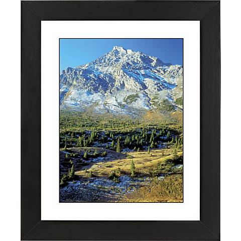 "Mountain Foothills Black Frame Giclee 23 1/4"" High Wall Art"