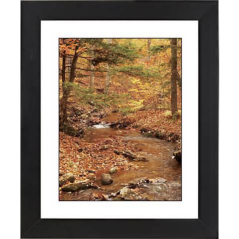 """Autumn Brook Black Frame Giclee 23 1/4"""" High Wall Art"""
